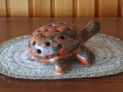 Ikebana virágtartó, váza, teknősbéka forma