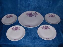 Epiag Cseh porcelán sütemény kínáló készlet 4 személyes (s)