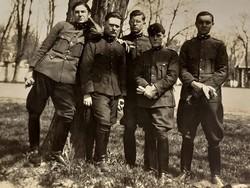 Régi fotó katona fénykép csoportkép képeslap 1928