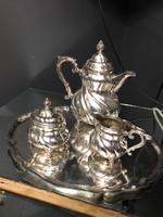 Rokokó ezüst teás-kávès készlet