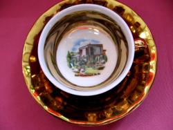 Retro gyűjtői emlék csésze Bad Schallerbach Ob. Oe.
