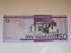 Dominikai közt 50 pesos 2014 UNC