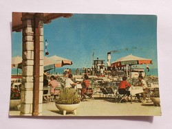 Régi képeslap Balatonfüred Móló Eszpresszó 1963 üdvözlőlap