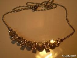 Fehérarany GOLDFILLED kristályos nyakék