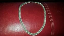 Széles ezüst nöi nyaklánc