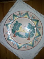 Kerámia tányér, falitányér hucul mintával