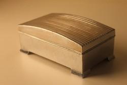 Art Deco cigaretta kínáló doboz, patinírozott ón