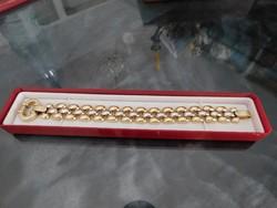Arany két színű 14k női karlánc   35.7 gr