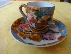 Gyönyörű japán tojáshéj porcelán kávés készlet: csésze és alj