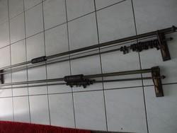 2 db réz fa kombinációs függönytartó karnis