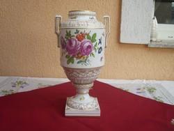 Nagyméretű Antik Höchst váza , 35 cm.