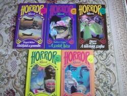 Horror könyvek sorozat - 5 darabos csomag