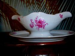 Meisseni jelzett porcelán mártásos tál