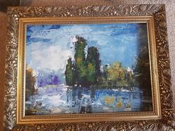 Szőke Zoltán, olaj, festőkés, farost, 56x43 cm, keret nélküli akció