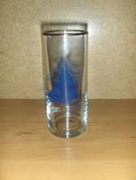 Retro Balatoni emlék üveg csőpohár vitorlás Balaton (1/k))