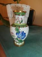 Antik rekeszzománc váza SÉRÜLT