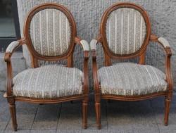Neoklasszicista karszék pár, jó állapotban