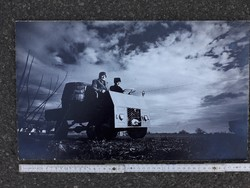 """"""" Egy kiállítás képei """" - Horváth Dezső -  8 db  fekete  fehér művész fotó fénykép"""
