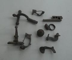 Ókori római Bronz Sok különböző fibula