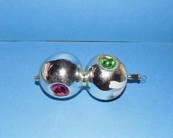 Régi üveg karácsonyfadísz 11,5 cm (1)