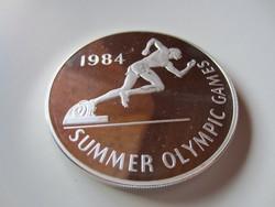 136gr ezüst befektetési ritka érme Jamaika Nyári Olimpia 1984 0.925ag 25dollar