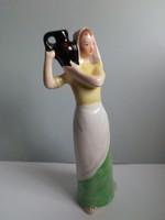 Bodrogkeresztúri ritka vízhordó lány korsóval
