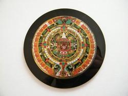 Tűzzománc azték nap kalendárium