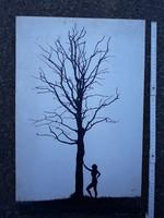 """"""" Egy kiállítás képei """" - Dobosy László - fekete  fehér művész fotó fénykép akt"""