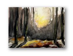 Akvarell tájkép - Tímár Lajos
