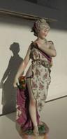 Antik XIX. századi  reneszánsz hölgy - 45 cm !