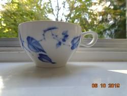 1950 Kobaltkék levélmintás Schönwald német teás csésze