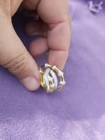 Egyedi aranyozott ezüst gyűrű