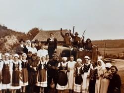 Régi mini fotó vh. katonák katona fénykép