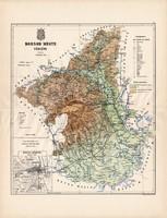 Borsod megye térkép 1887 (3), vármegye, atlasz, Kogutowicz Manó, 43 x 57 cm, Gönczy Pál, Miskolc