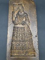 Reneszánsz ruhás hölgy - viasz mézeskalácsforma, ütőfa