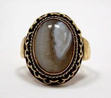 Achát köves arany gyűrű (ZAL-Au84319)