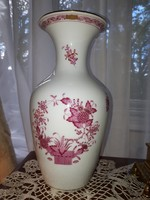Indiai kosármintás Herendi váza 25cm