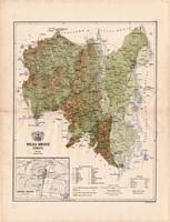 Tolna megye térkép 1886 (4), vármegye, atlasz, Kogutowicz Manó, 42 x 56 cm, Gönczy Pál, Szekszárd