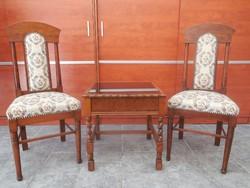 Art deco székek dohányzó asztallal