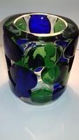 Jaroslav Svoboda Csehszlovák Art Glass üveg váza Skrdlovice, '70-évek
