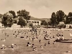 Régi képeslap Vonyarcvashegy strand 1965