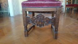 2db reneszánsz stílusú szék