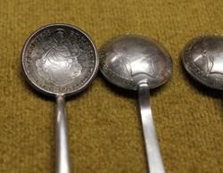 Patrióta ezüst kiskanalak 20 krajcárból.