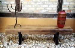 Loft desing gerenda asztal, pad, tartó butor
