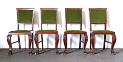 0Y211 Oroszlánlábas szék garnitúra 4 darab