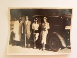 Régi fotó vintage autós fénykép