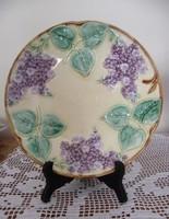Antik szecessziós orgonamintás tányér, fali tál !