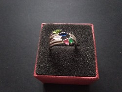 Ásvány köves ezüst gyűrű