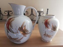 Wallendorf porcelán kancsó és váza