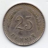 Finnország 25 finn penniä, 1927